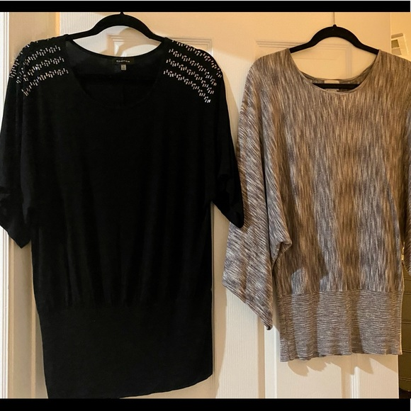 2 New Women's Loose-Fit Knit Tunic Top's